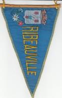 Rare FANION RIBEAUVILLE - BAS RHIN 67 - BLEU - Obj. 'Remember Of'