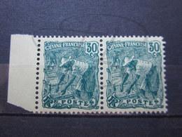 VEND BEAUX TIMBRES DE GUYANE N° 106 EN PAIRE +BDF , XX !!! - Frans-Guyana (1886-1949)