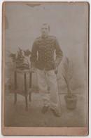 Photo Originale De Cabinet XIXème Militaria Officier Sabre épée 15 Sur Le Col - Guerra, Militari