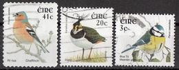 1361 Irlanda 1997... Birds Uccelli Chaffinch Cinciarella Fringuello Blue Tit Lapwing Pavoncella Ireland Eire Used - Sparrows