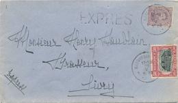 053/27 - BRASSERIE BELGIQUE - Vers Le Brasseur Houblain à SIVRY - Lettre EXPRES TP Petit Albert MARCHIENNE AU PONT 1920 - Bières