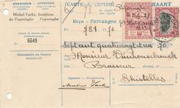 054/27 - BRASSERIE BELGIQUE - Vers Le Brasseur Van Honsebrouck à GHISTELLES GISTEL - Carte-Récépissé POPERINGHE 1921 - Bières