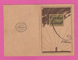 1924 Cycles Ravat Publicité Vélo Carte Certificat De Garantie Impimerie Lehenaff & Cie St Etienne 42 - Publicités
