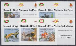 H22. Burundi - MNH - Marine Life - Deluxe - Imperf - Marine Life