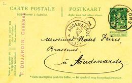 058/27 - BRASSERIE BELGIQUE - Vers Le Brasseur Naus Frères à AUDENARDE - Entier Postal Pellens MONS 1913 - Bières