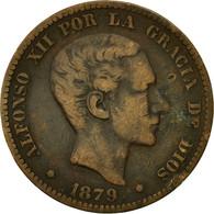 Monnaie, Espagne, Alfonso XII, 10 Centimos, 1879, TTB, Bronze, KM:675 - Monnaies Provinciales