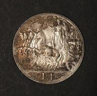 VITTORIO EMANUELE  III° RE D'ITALIA 1900-1943 1 Lira Quadriga Veloce 1913 TOP PRICE D.2424 - 1861-1946 : Reino