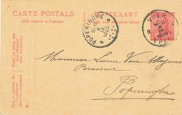 059/27 - BRASSERIE BELGIQUE - Vers Le Brasseur Van Meyennes (?) à POPERINGHE - Entier Postal Casqué YPRES 1920 - Bières