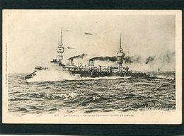 "CPA - ""LE CHANZY"", Croiseur Cuirassé  (dos Non Divisé) - Warships"