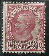 ITALY OVERPRINTED SOPRASTAMPATO D'ITALIA LEVANTE DURAZZO 1909 - 1911 PARA 20 SU 10 CENT. MNH - 11. Uffici Postali All'estero