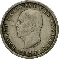 Monnaie, Grèce, Paul I, Drachma, 1957, TB+, Copper-nickel, KM:81 - Grèce