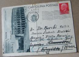 MONDOSORPRESA,(IP112) ROMA VIA DEL MARE, 75C. EFFIGE VITTORIO EMANUELE, ANNULLO ONDA - PERUGIA - 4. 1944-45 Repubblica Sociale