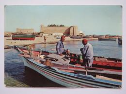 LA KASBAH, FORT, HAMMAMET. FISHERMEN, BOATS. #2. POSTED 1972 - Tunisia