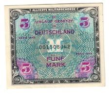 Germany Allied Military Occupation 5 Mark 1944 AUNC- - [ 5] 1945-1949 : Occupazione Degli Alleati