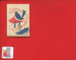 Mini Calendrier Loterie Nationale Nombre  13  Oiseau Année à Déterminer Circa 1930 1940 - Kalenders