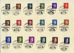 OSTLAND 1941 Set Of 18 On Sheet  Cancelled Dorpat Tag Der Briefmarke 11.1.1942.  Michel 1-18 - Occupation 1938-45