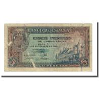 Billet, Espagne, 5 Pesetas, 1940-09-04, KM:123a, TB - 5 Pesetas