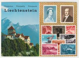 LIECHTENSTEIN MULTIVIEW. SCHLOSS VADUZ, STAMPS. UNPOSTED - Liechtenstein