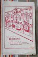 Rare 51 CHALONS SUR MARNE Programme Du CASINO 1950 (Cinema) TOP PUB - Programmes