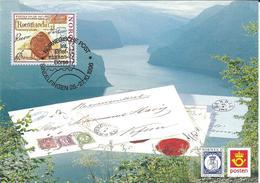 Norway Maximum Card - SINDELFINGEN 1996.motive - 1995 The 350th Anniversary Of The Postal Service - Norwegen