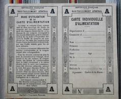 Carte Individuelle D'Alimentation Vierge - Maps