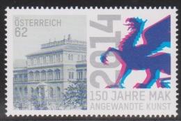 """Österreich 2014: """"MAK Museum F.angew.Kunst""""    Postfrisch (siehe Foto/Scan) - 1945-.... 2. Republik"""