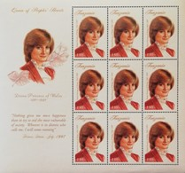 Tanzania  1998 Diana  Princess Of Wales Sheet Of Nine   POSTAGE FEE TO BE ADDED ON ALL ITEMS - Tanzania (1964-...)