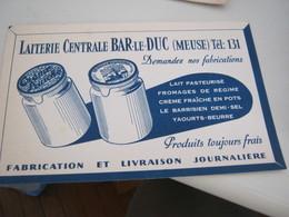 BUVARD PUBBLICITARIA LAITERIE CENTRALE BAR LE DUC - Dairy