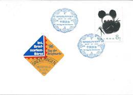 China 1996.Postcard,label And Postmark SINDELFINGEN. Motive Stamp -  1985 Giant Panda - 1949 - ... République Populaire