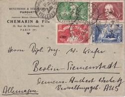 FRANCE 1937 LETTRE DE PARIS - Poststempel (Briefe)