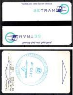 1 Ticket Transport 2017 Algeria Tram Tramway Alger Algiers Argel Billete De Transporte Tranvía - 2 Scans - Tramways
