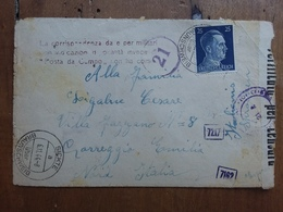 GERMANIA III REICH - Prigionieri Di Guerra - Busta Inviata In Italia Verificata Per Censura + Spese Postali - Germania