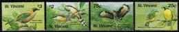 MDB-BK8-325 MINT ¤ ST VINCENT 1998 4w In Serie ¤ BIRDS OF THE CARIBBEAN OISEAUX BIRDS PAJAROS VOGELS VÖGEL - Songbirds & Tree Dwellers
