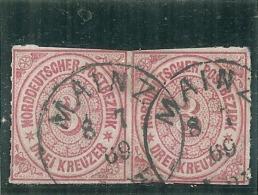 ALLEMAGNE - Confédération Du Nord - N° 9 Paire Côte +6€ - Norddeutscher Postbezirk