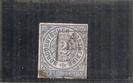 ALLEMAGNE - Confédération Du Nord - N° 5 ---  2 K Bleu      Côte 2€ - Norddeutscher Postbezirk