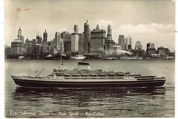 PIROSCAFO T/N ANDREA DORIA NEW YORK MANHATTAN 1954 - Piroscafi