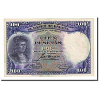 Billet, Espagne, 100 Pesetas, 1931-04-25, KM:83, TTB - [ 2] 1931-1936 : Repubblica