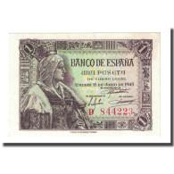 Billet, Espagne, 1 Peseta, 1945-06-15, KM:128a, SPL - [ 3] 1936-1975 : Régence De Franco