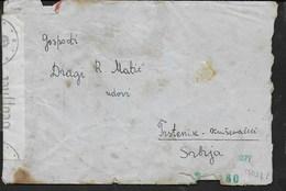 BUSTA IN FRANCHIGIA CON LETTERA DA BOGLIACO LAGO DI GARDA 19.01.1942 PER PRSTENIC (SERBIA) - CENSURA TEDESCA - Posta Militare (PM)