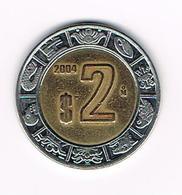 &  MEXICO  2  PESOS  2004 - Mexique