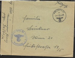 FELDPOST E 04.04.1943 - TIMBRO DIENSTSTELLE FELDP. Nr. 34541 A*BRIEFSTEMPEL* SU BUSTA - Allemagne