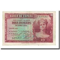 Billet, Espagne, 10 Pesetas, 1935, KM:86a, TTB - [ 2] 1931-1936 : République