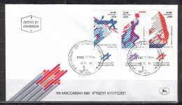 Israel 1683.FDC 1981 Tab 3v Sport Basketball  High Jump - FDC