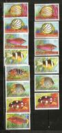 Poissons Des îles COCOS, Océan Indien,  14 Timbres Neufs ** Côte 10,00 € - Poissons