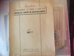 Circulaire 12p Nouvelles Cartes De Ravitaillement 1951 - Wetten & Decreten