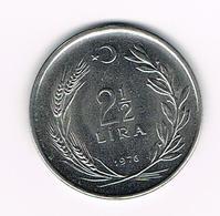 &   TURKIJE  2 1/2  LIRA  1976 - Turquie