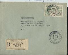 Doc.  Avec N° 964 (Aviron)  Obl. Strasbourg Bd D'Anvers Le 04/02/1954  En Recommandé - 1921-1960: Période Moderne