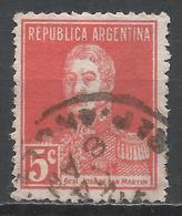 Argentina 1923. Scott #345 (U) Jose De San Martin * - Argentine
