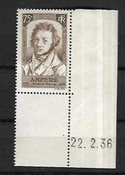 France    1936   Ampère     Cat YT   N° 310   N**  MNH   BDF - Unused Stamps