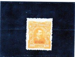 B - 1891 Honduras - Presidente Luis Bogran - Soprastampato - Honduras